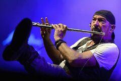 Ian Anderson performs with Jethro Tull during the 46th Montreux Jazz Festival, in Montreux, Switzerland, in a July 2012 file photo.