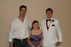 Greg Welch, left, with daughter Jayda and son Jordan.