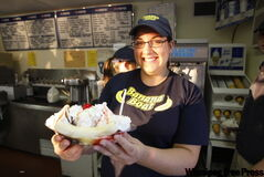 Banana Boat ice cream artist Erin Wilcosh.