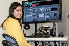 At the student-led Channel 7 Oaks, student directors like Camille Quintinio call the shots behind the scenes.