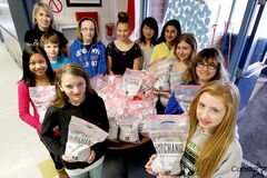 Students at Meadows West collected dozens of bags of pennies, all of which will go to provide clean water to people who need it in impoverished regions of the world.