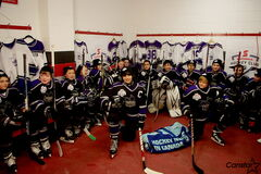 The Norberry-Glenlee Knights 11A2 hockey team took centre stage at the opening to last Saturday night's edition of Hockey Night in Canada.