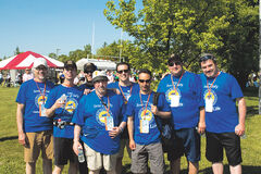 Joe Leuzzi's Sons of Italy team at the Challenge for Life.