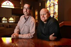 Rev. Jamie Howison of St. Benedict's Table (left) and Rev. Jim Peterson of Elim Chapel.