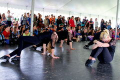 The Zero Gravity Dance club from West Kildonan Collegiate perform to a packed tent as part of Arts in the Park 2013 at Kildonan Park last week.