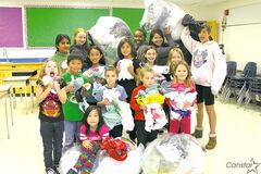 Students at Victor H. L. Wyatt School have been busy collecting plastic bags.