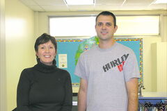 From left to right: Nordale School Grades 4 to 5 teacher, Julia Single, and physical education teacher, Trevor Reimer.