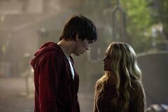 Nicholas Hoult and Teresa Palmer in the new rom-zom-com, Warm Bodies.