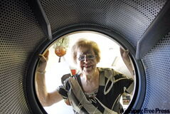 Jaroslawa Palamartchuk, 83, owns Pinky's Laundromat, a warm and clean place in the heart of the inner city.