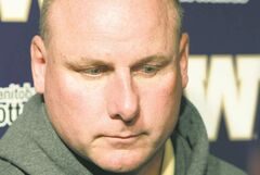 Blue Bomber head coach Paul LaPolice reported for work as usual to watch game film Saturday morning.