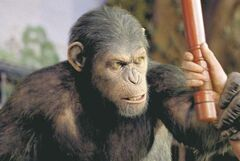 Andy Serkis as Caesar in the Rise of the Planet of the Apes.