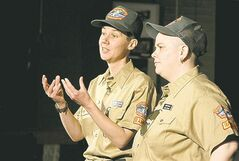 Dempsey (left) and Millan as Lesbian Rangers.