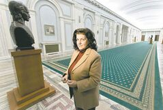 Anca Petrescu is the architect who designed the Parliament Palace.