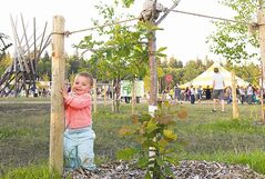 Eleven-month-old B.C. resident Kymera Wylder enjoys her first Folk Fest.