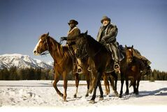 Jamie Foxx and Christoph Waltz in Django Unchained.