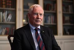Governor General David Johnston responds to questions during a one-on-one interview with reporter Heather Scoffield at his official residence, Rideau Hall, in Ottawa on Wednesday, November 28, 2012. THE CANADIAN PRESS/ Patrick Doyle