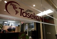 The offices of Taseko Mines Limited is pictured in Vancouver, on November 25, 2010. THE CANADIAN PRESS/Darryl Dyck