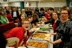 Some 65 St. James Collegiate and George Waters Middle School took part in the third annual Aboriginal Holiday Friends Feast.