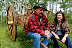 Armand Jerome and his partner Kelly Pageot spend up to 200 hours building handcrafted Red River carts in their workshop out near Beausejour.