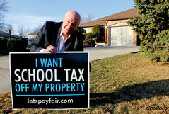 Lorne Weiss, of the Let's Pay Fair campaign, says education should be funded through general revenues, not property taxes..