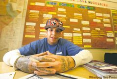 "Stony Mountain inmate Lance Laquette: ""I was a typical teenager who thought that school was a waste of time... A lot has changed for me.' Laquette is now 'setting up' to attend Red River College when he is released."