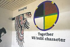 Rossburn Collegiate's new logo recognizes its partnership with Waywayseecappo First Nation.