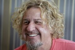 In this Saturday, Feb. 22, 2014 photo, In this Saturday, Feb. 22, 2014 photo, musician Sammy Hagar smiles during an interview in Miami. Hagar, known as the