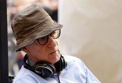 FILE - In this July 14, 2011 file photo, filmmaker Woody Allen is shown on the set of his movie