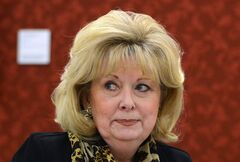 Conservative Sen. Pamela Wallin attends a Senate Committee meeting on Parliament Hill in Ottawa on Thursday Feb 28, 2013. Auditors are examining the travel expense claims of Wallin.THE CANADIAN PRESS/Sean Kilpatrick