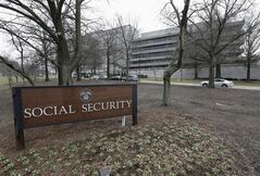 FILE - This Jan. 11, 2013, file photo shows the Social Security Administration's main campus in Woodlawn, Md. A new congressional report says the Social Security Administration has been closing a record number of field offices, even as millions of baby boomers approach retirement. The agency blames budget constraints. As a result, seniors seeking information and help from the agency are facing increasingly long waits _ in person and on the phone. (AP Photo/Patrick Semansky, File)