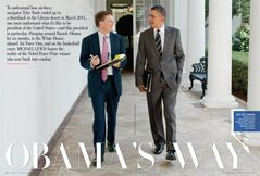 Michael Lewis and President Barack Obama.