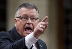 Liberal MP Ralph Goodale asks a question during question period in the House of Commons on Parliament Hill in Ottawa on Thursday Feb. 10, 2011. Deputy Liberal leader Ralph Goodale is asking the CRTC to investigate the Conservative party's latest use of robocalls in his Saskatchewan home turf. THE CANADIAN PRESS/Sean Kilpatrick