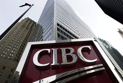 A CIBC sign in is shown in Toronto's financial district in downtown Toronto on February 26, 2009. THE CANADIAN PRESS/Nathan Denette