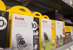 This photo taken Nov.1, 2011, shows ink cartridges for Kodak printers in Little Rock, Ark., Best Buy store. THE CANADIAN PRESS/AP, Danny Johnston