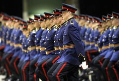 Recruits march at graduation ceremony last October. Today's class graduates at the Winnipeg Convention Centre starting at 1 p.m.
