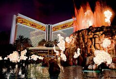 The volcano in front of the Mirage is one of many popular choices for wedding venues in Las Vegas.
