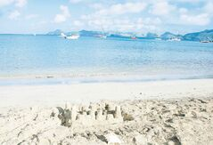 The Caribs named Nevis �Oualie,� which means �land of Beautiful Waters.� From Oualie Beach you can see views of St. Kitts.
