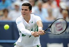 Milos Raonic, of Canada, returns the ball against fellow countryman Vasek Pospisil during the men's singles final match at the Citi Open tennis tournament, Sunday, Aug. 3, 2014, in Washington. Raonic won 6-1, 6-4. Milos Raonic's powerful serve is a big reason why he's ranked sixth in the world. His constant work on it, and backing it up, is also why he has his sights set on a top five ranking and Grand Slam titles. THE CANADIAN PRESS/AP, Nick Wass