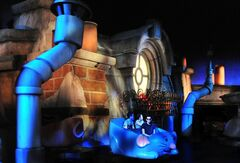 "This July 2014 photo provided by Disneyland Paris shows riders at a new attraction at the theme park based on the animated movie ""Ratatouille."" The attraction, which opens to the public on July 10, is the first ride at any Disney park based on the 2007 movie about a rat named Remy who is a gifted French chef. The dark ride will offer what the park describes as a ""comical, rat's eye view"" of Remy's world, beginning on the rooftops of Paris, continuing in ""ratmobiles"" through a restaurant's cold storage area, and into a dining room overseen by an intimidating chef. (AP Photo/Disney)"