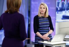 This image released by NBC shows Yahoo CEO Marissa Mayer on NBC News'