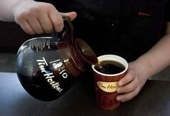 Tim's had a profitable third quarter but fewer people went into its restaurants.