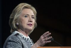 FILE - This May 14, 2014, file photo shows former Secretary of State Hillary Rodham Clinton speaking in Washington. Clinton says she feels emboldened to run for president because of Republican criticism of her handling of the deadly 2012 terrorist attacks in Benghazi, Libya. Clinton says in an interview with ABC News airing June 9 that she remains undecided about another campaign in 2016. But she says the GOP-led Benghazi inquiry is