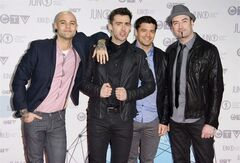 Hedley arrives at the Juno Awards on Sunday, April 1, 2012, in Ottawa, Ont. The band is set to head out on a Canadian tour. THE CANADIAN PRESS/AP/Arthur Mola