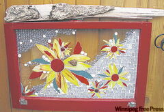 Glass garden mosaics by feature artist Ursula Neufeld will be on display.
