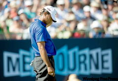 Tiger thought he had it bad after missing a birdie putt at the Australian Masters a few weeks ago. Little did he know.