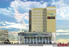 Prairie  Architects' rendering of the revamped Union Bank Tower on Main Street.