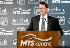 True North Sports and Entertainment Limited chairman Mark Chipman speaks during a press conference in Winnipeg, Tuesday May 31, 2011,  announcing an NHL franchise returning to the city. The NHL's board of governors unanimously approved the sale today with a vote in New York.