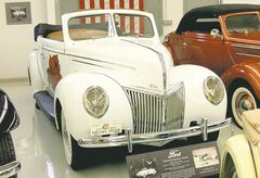 Austin's 1939 Ford sedan convertible ran the Bonneville Speed Trials in 1952. Austin sold the car prior to a tour of duty in Korea, but his wife Joan bought it back for him as a Christmas present in 1976.