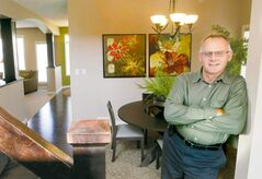 Qualico Homes' single-family sales manager Dale Penner at 10 Elsey Road.