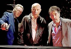 From left, Walken, Arkin and Pacino